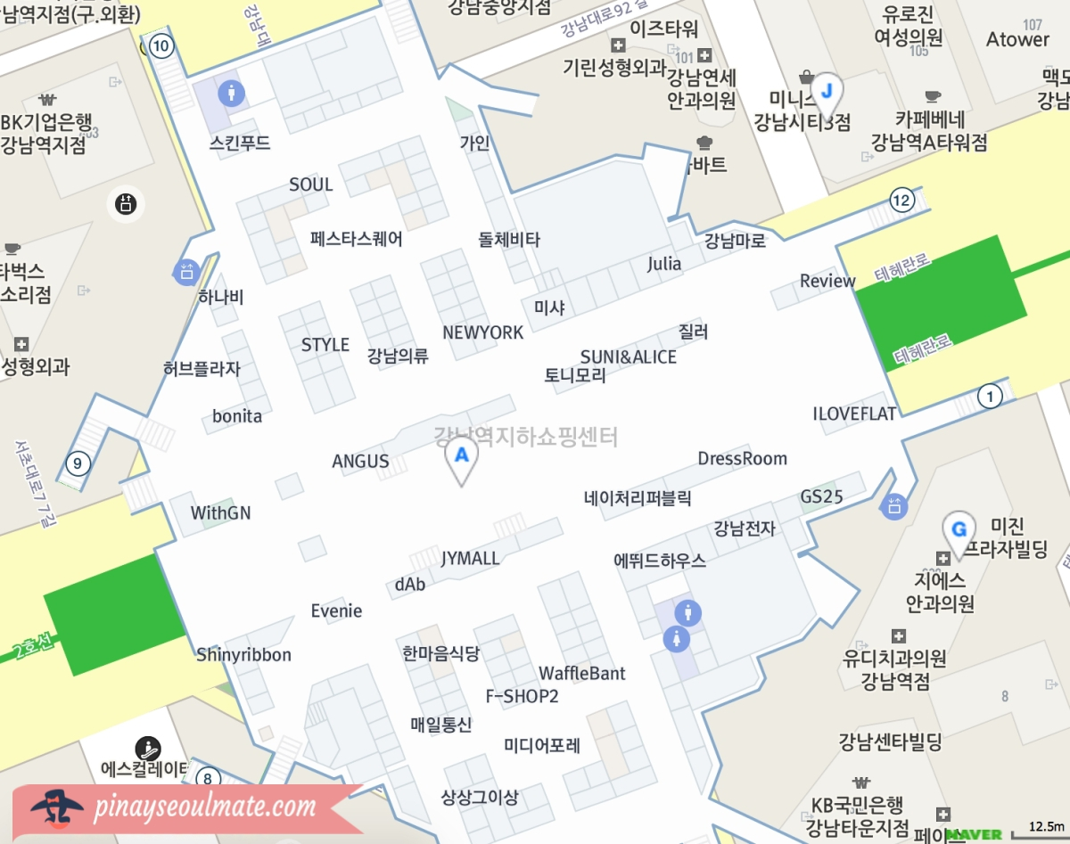 Gangnam Station Underground Shopping Pinay Seoulmate
