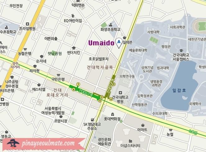 umaido map
